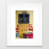india Framed Art Prints featuring India by Kate Denman
