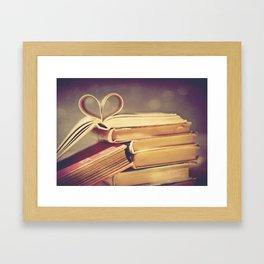 Vintage Book Love Framed Art Print