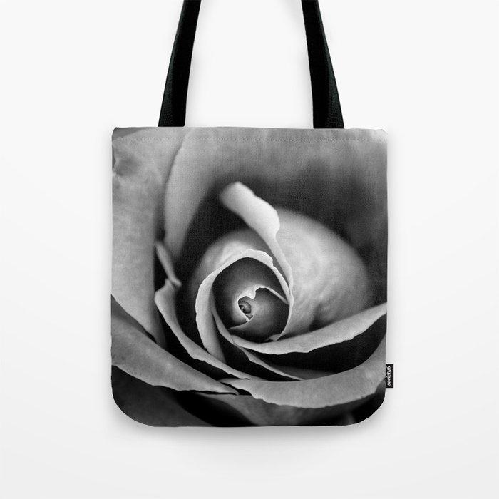 Black and White Rose  Tote Bag