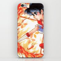 sailormoon iPhone & iPod Skins featuring Sailor Mars by KimiCookie