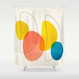 Jellybean Acid Fingerprints Shower Curtain