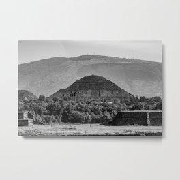 Sun Takes Form - Teotihuacan, Mexico Metal Print