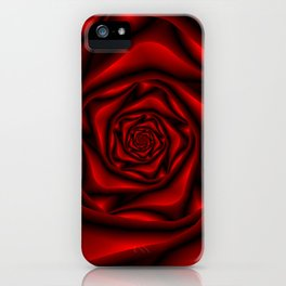 Rose Spiral in Black and Red iPhone Case