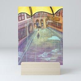 Rainy Swedish day in Stockholm's Old town  Mini Art Print