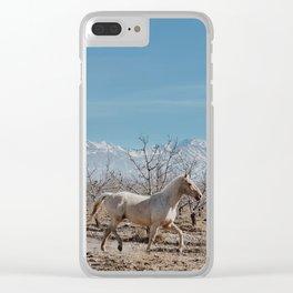 white horse Bolivia Clear iPhone Case