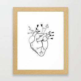 Love will keep you warm Framed Art Print