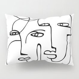 Abstract faces Pillow Sham