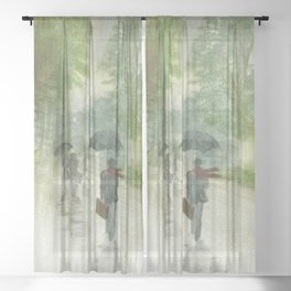 When it Rains Sheer Curtain