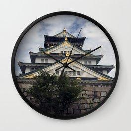 Osaka Castle, Osaka, Japan Wall Clock