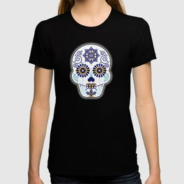 Día de Muertos • Mexican Sugar Skull – Baby Blue Palette T-shirt