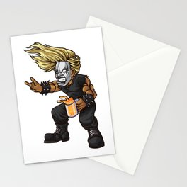 Heavy Metal Fan   Headbanger Music Festival Stationery Cards