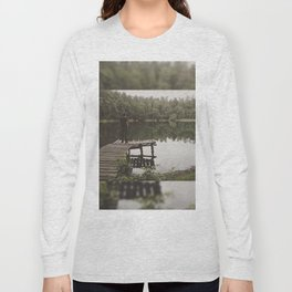 Human loneliness by the lake Long Sleeve T-shirt