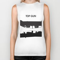 top gun Biker Tanks featuring Top Gun Communicating  by NotThatMikeMyers