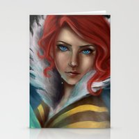 transistor Stationery Cards featuring Transistor - Tears by selvaritan