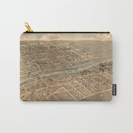 Vintage Pictorial Map of Bethlehem PA (1878) Carry-All Pouch