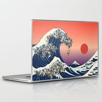 huebucket Laptop & iPad Skins featuring The Great Wave of Pug   by Huebucket
