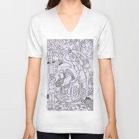 gizmo V-neck T-shirts featuring Gizmo mouse by Nixynakks