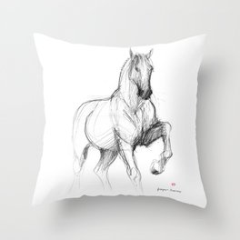 Horse (Siwy / Silver) Throw Pillow