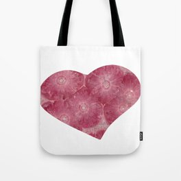 Heart Shape Stone Art Tote Bag