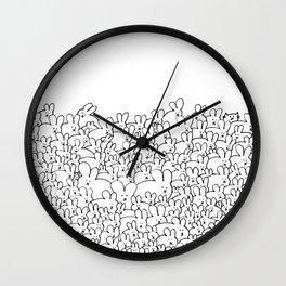 Pile of Buns Part Deux Wall Clock