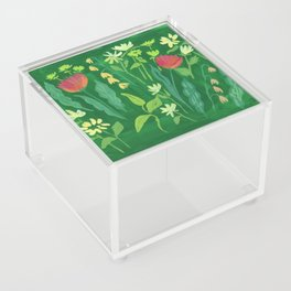 Sweet Flowers and Stems Acrylic Box