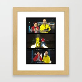 Breaking Bad to the Future  Framed Art Print