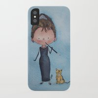audrey iPhone & iPod Cases featuring Audrey by Juliana Motzko