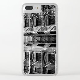New York fire escapes Clear iPhone Case