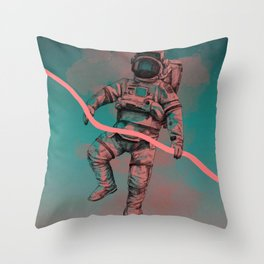 Fallen Astronaut Throw Pillow