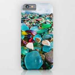 Kauai's Glass Beach, Hawaiian Portrait iPhone Case