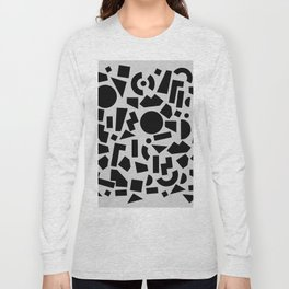 geometric black shapes Long Sleeve T-shirt