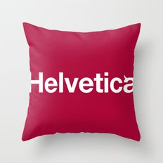 Hell-vetica Throw Pillow
