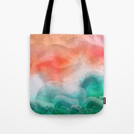 """""""Coral sand beach and tropical turquoise sea"""" Tote Bag"""