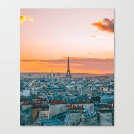 Sunset in Paris (Color) Canvas Print