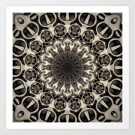 Neutral Abstract Black Ink Bohemian Mandala Kunstdrucke