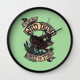 Wild Thing, I Think I Love You Wall Clock