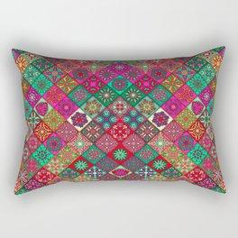 N134 - Heritage Oriental Traditional Bohemian Style Moroccan Artwork Rectangular Pillow