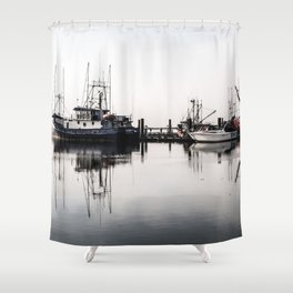 Steveston Marina Shower Curtain
