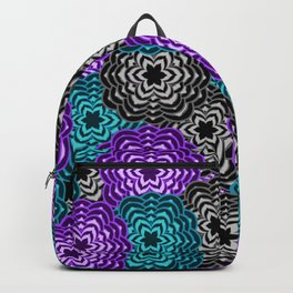 Dahlia Multicolored Floral Abstract Pattern Backpack