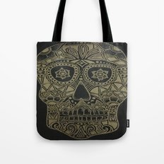 Gold Skull Tote Bag