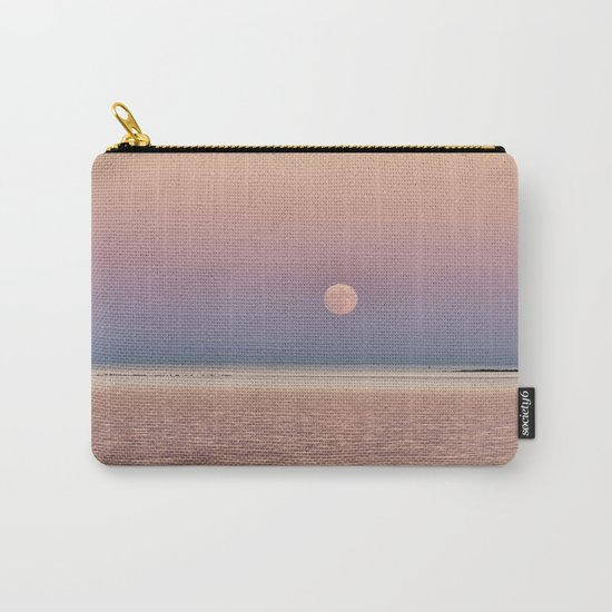Full Moon rising over the ocean Carry-All Pouch