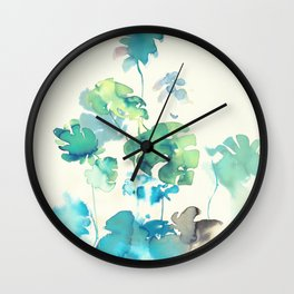 Tropical Leaves Collab. Dylan Silva Wall Clock