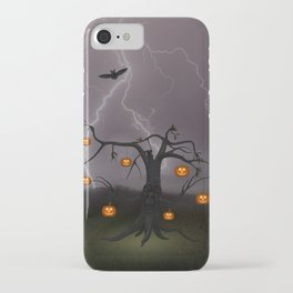 SCARY HALLOWEEN TREE iPhone Case