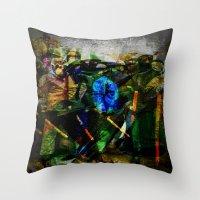 ukraine Throw Pillows featuring UKRAINE by lucborell