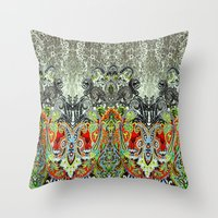 paisley Throw Pillows featuring Paisley by BellagioVista