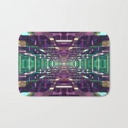 Aqua and Purple Tunnel Bath Mat