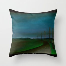 Lost On A Dark Highway Throw Pillow