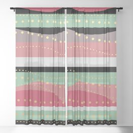 WAVING COLORS Sheer Curtain