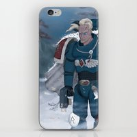 warhammer iPhone & iPod Skins featuring Warhammer 40,000 Space Wolf Marine by Derek Boman
