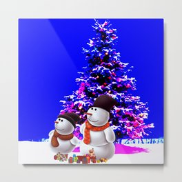 christmas tree and olaf Metal Print